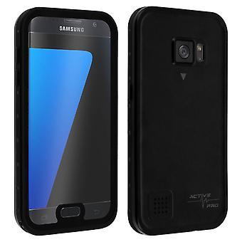 Galaxy S7 Schutzhülle wasserdicht IP68 Stoßfest 2m 4smarts Schwarz