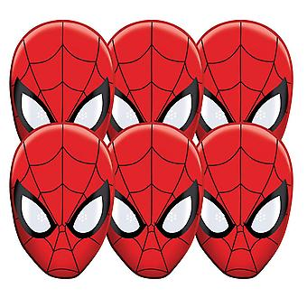 Spider-Man Party Card Fancy Dress Mask Value Pack of 6