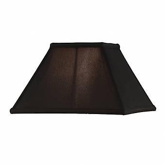 Tolv tums svart Faux Silk skugga