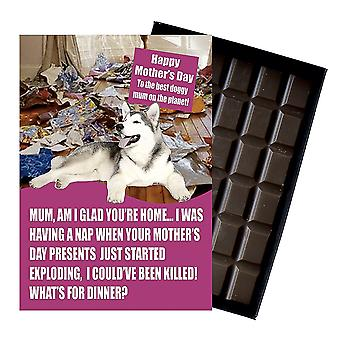 Alaskan Malamute Owner Dog Lover Mother's Day Gift Chocolate Present For Mum