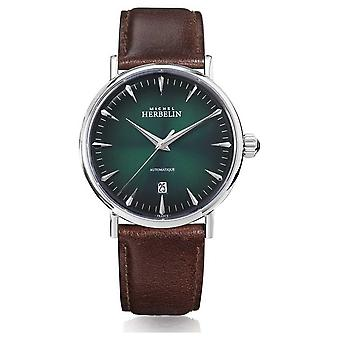 Michel Herbelin | Mens | Inspiration | Automatic | Green Dial | 1647/AP16BR Watch