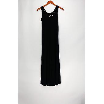 Kate & Mallory kjole ermeløs blonder opp detaljer Maxi stil svart