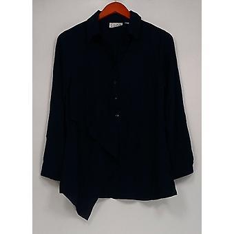 Joan Rivers Classics Collection mulheres ' s Top XXS flowy túnica azul marinho A301269