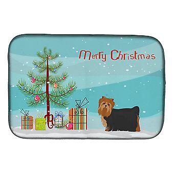 Carolines Treasures CK3490DDM Yorkshire Terrier árvore de Natal prato secagem Mat