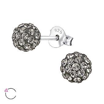 Bal kristal van Swarovski® - 925 Sterling zilveren Ear Studs - W27747x