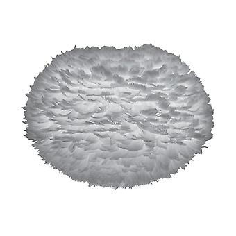 Umage Eos Feather Pendant Shade - Light Grey - Large - 65cm With Black Rosette Cord Set