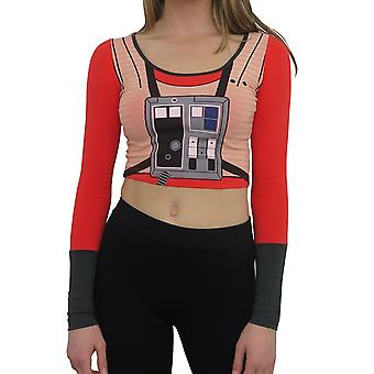 Star Wars Rebel Long Sleeve Women's Crop Top T-Shirt