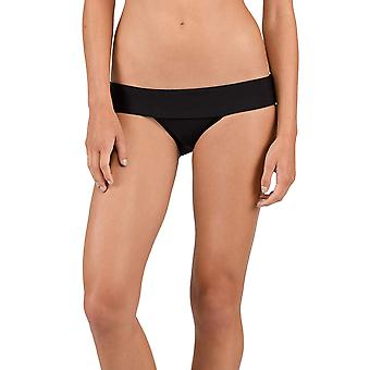 Volcom Junior-apos;s Women-apos;s Simply Solid Modest Bikini Bottom, Noir, Moyen