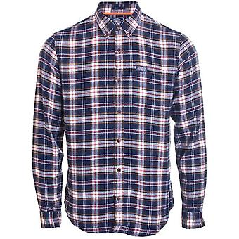 Superdry Workwear L/s Camisa Navy Check