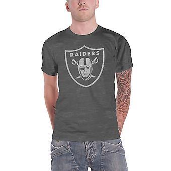 Oakland Raiders T Shirt Oakland Raiders Logo new Official NFL Mens Burnout