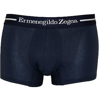 Ermenegildo Zegna Stretch Cotton Boxer Trunk, Polizei Blue