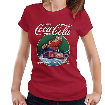 Coca Cola Holidays Are Coming Truck Women's T-Shirt