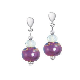 Eternal Collection Harmony Orchid Ceramic And Crystal Silver Tone Drop Screw Back Clip On Earrings Eternal Collection Harmony Orchid Ceramic And Crystal Silver Tone Drop Screw Back Clip On Earrings Eternal Collection Harmony