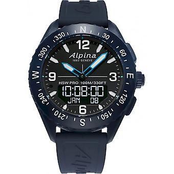 Alpina - Connected Watch - Smartwatch - Alpina AlpinerX Dark Blue-Black - AL-283LBN5NAQ6