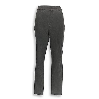H door Halston vrouwen ' s broek Knit denim enkel broek grijs A346932