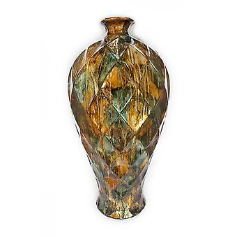 """9.5"""" X 9.5"""" X 20"""" Natural Ceramic Floor Vase"""