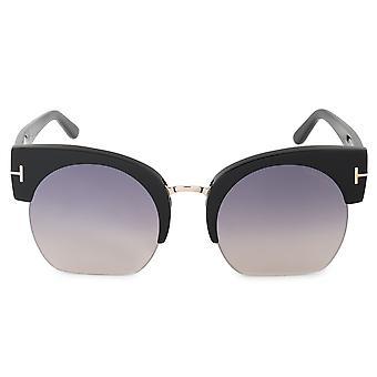 Tom Ford Savannah-02 FT0552 01B 55 semi-rimless solglasögon