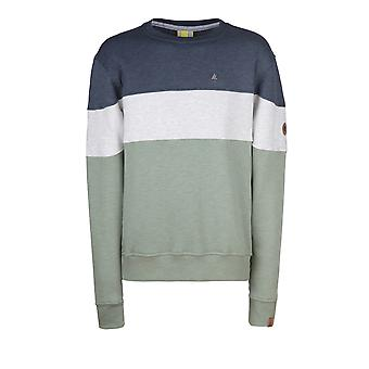 Alife and Kickin Men's Sweatshirt Vince Crewneck dust Longsleeve with Color Blocking Size L-XXL