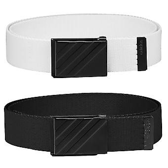 adidas Golf Mens Webbing Fabric OSFA Metal Buckle Clamp Belt