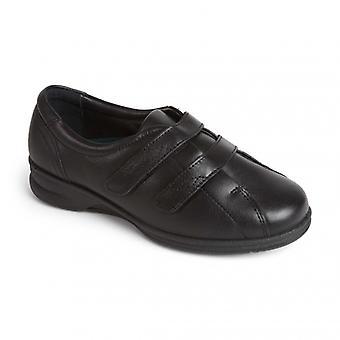 Padders Kerry naisten nahka Super leveä (4E/6e) kengät musta