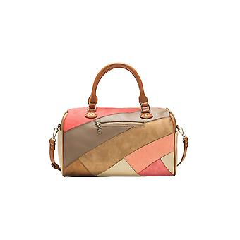 Desigual Women's Peach & Gold Caprica Sidney Bowling Bag