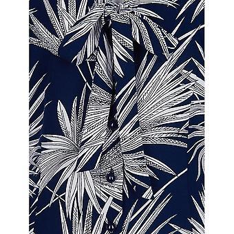 Collectif Vintage Women's Tura Palm Print Blouse Top