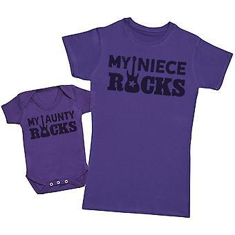 My Niece Rocks! - Aunty T-Shirt & Baby Bodysuit