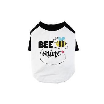 Bee Mine Pet Baseball Shirt for Small Dogs Funny Graphic Pet Shirts