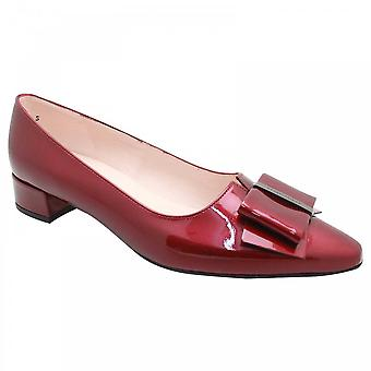 Peter Kaiser Burgundy Patent Low Heel Court Shoes