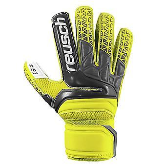 Reusch Prisma SG Finger Support Mens Goalkeeper Goalie Glove Yellow/Black