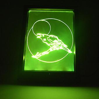 会说话的月亮乌鸦变色遥控LED灯框