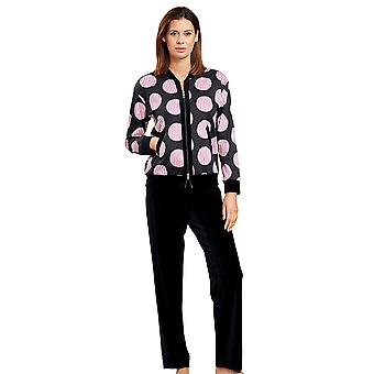 Féraud 3201073-10996 Mujeres's Couture Black Print Spotted Loungewear Set