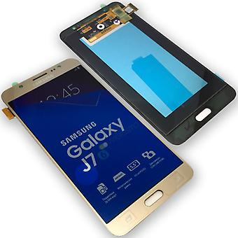 Vise LCD komplett sett GH97 18855A gull for Samsung Galaxy J7 J710F 2016