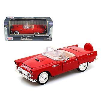 1956 Ford Thunderbird Orange 1/24 Diecast Car Model by Motormax