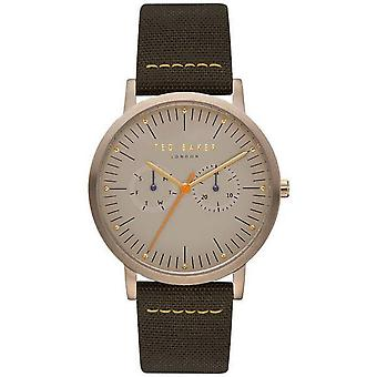 Ted Baker Brit Quartz Brown Dial Fabric Strap MensWatch TE50274002