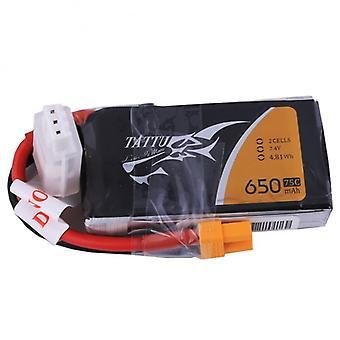 0650 mah 7,4V 75C pack met XT30 stekker