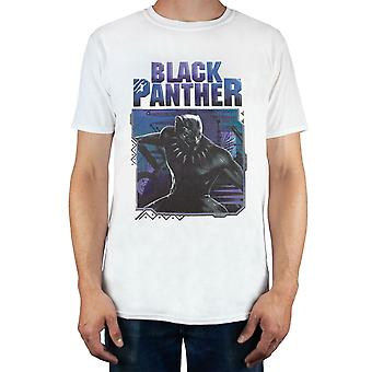 Marvel Black Panther Men's Adults White T-Shirt Top