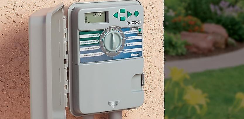 Hunter X-Core 601 6-Station 230/240 VAC outdoor controller, with plastic cabinet