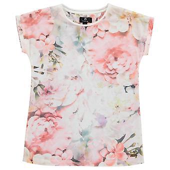 Firetrap Copii Girls BoyF imprimate T Crew Neck T-Shirt Shirt Tee Top