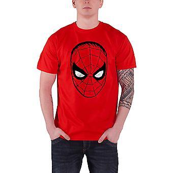 Marvel Comics Spider Man big head Official Mens New Red T Shirt