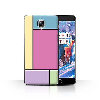 STUFF4 Case/Cover for OnePlus 3/3T/5 Tiles/Pink/Pastel Tiles