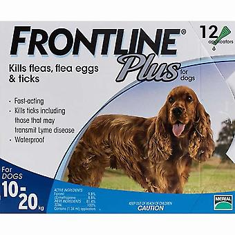 Frontline Plus for Dogs 10-20 kg (22-44lbs) - 12 Pipettes
