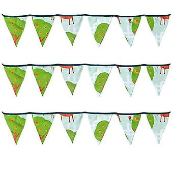 Ready Steady Bed� Fabric Bunting Flags Banner | Printed Polycotton Party and Bedroom Decoration for Kids | Birthday Bunting for Girls or Boys | 3 Metres (Le Farm)