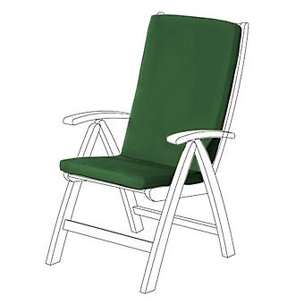 Gardenista Garden High Back Chair Seat Pad | Outdoor Indoor Seating Cushion | Water Resistant Material | Soft Durable and Comfy (Green)