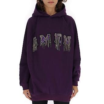 Amen Amw19216046 Kvinnor's Lila Bomull Sweatshirt