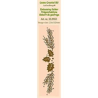 LeCrea - Border embossing folder Christmas (2,3x13cm) 35.9951  2,3x13cm