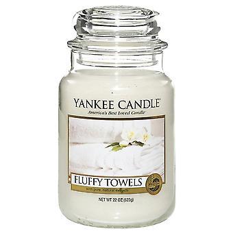 Yankee Kerze große Jar Kerze flauschige Handtücher