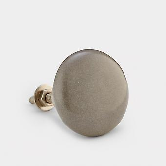 Ceramic Door Knob - Dark Grey - Flat