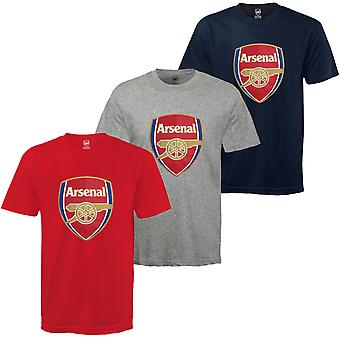 Arsenal FC officiella Fotboll Gift Kids Crest T-shirt