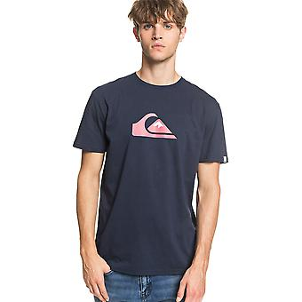 Quiksilver Men's T-Shirt ~ Comp Logo navy